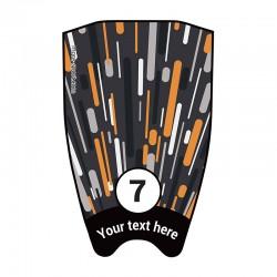"Fin sticker: Geometric ""Fast"" black top"