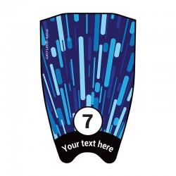 "Fin sticker: Geometric ""Fast"" dark blue top"