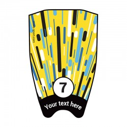 "Fin sticker: Geometric ""Fast"" yellow top"