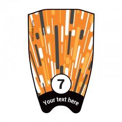 """Fin sticker: Geometric """"Fast"""" orange top"""