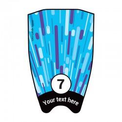 "Fin sticker: Geometric ""Fast"" light blue top"