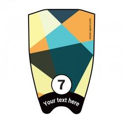"Fin sticker: Geometric ""Transparency"" top"