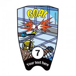 """Fins sticker: Comic """"Goal"""" top"""