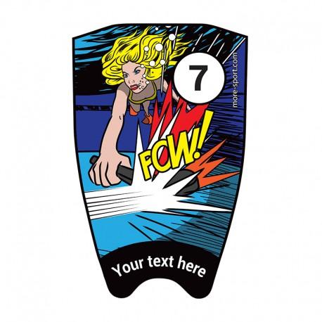 "Fins sticker: Comic ""Pow"" top"