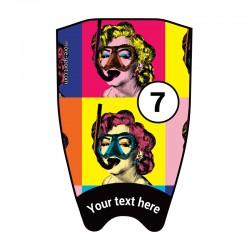 """Fins sticker: Pop Art """"Marilyn"""" top"""