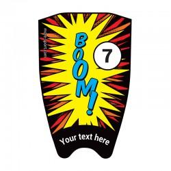 """Flocage BD """"Boom"""" dessus"""