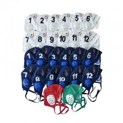 Bonnets de hockey subaquatique protecteurs dotés de mousse antichoc fine et absorbante et de passage de sangle de masque.