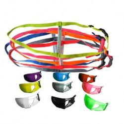 Personnalisez votre équipement grâce à un large choix de couleurs sur les protèges-bouche et les sangles !