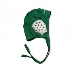 Green cap for underwater hockey coach