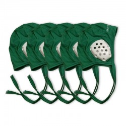 Pack of 5 green caps for underwater hockey coaches