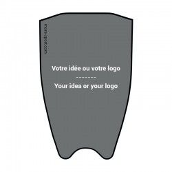 Customized fin sticker top
